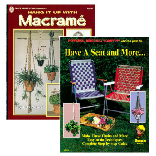 2 Pack Of Diy Macrame Book Hang Up Have A Seat Paracord
