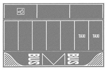 NOCH 60720 Car Park with Markings - Light Grey