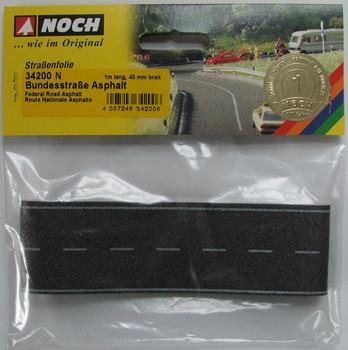 NOCH 34200 Black Self Adhesive Road 1m x 40mm 'N' Gauge