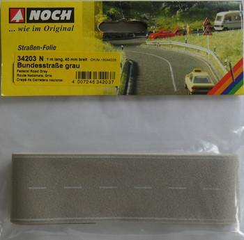 NOCH 34203 Light Grey Self Adhesive Road 1m x 40mm 'N' Gauge