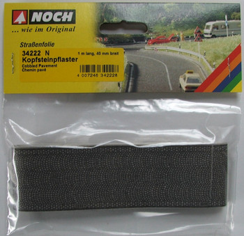 NOCH 34222 Cobbled Self Adhesive Pavement 1m x 40mm 'N' Gauge