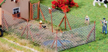 FALLER 180414 Wire Mesh Fence with Poles 00/HO