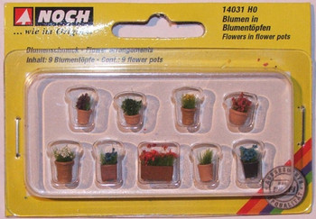 NOCH 14031 Flowers in Flower Pots 00/HO