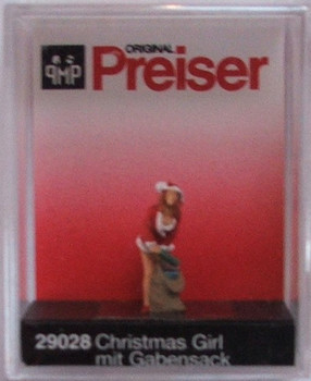 PREISER 29028 Christmas Girl With Gifts 00/HO