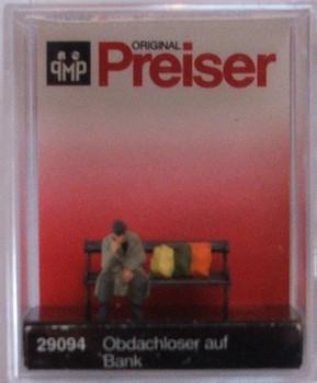 PREISER 29094 Homeless Man On Bench 00/HO