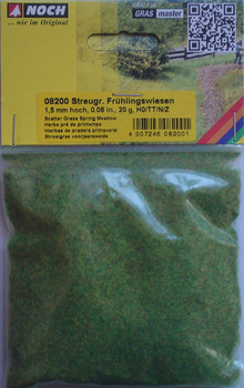 NOCH 08200 Static Grass 1.5mm Spring Meadow 20g