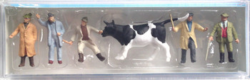 PREISER 14039 Cattle At Market With Figures 00/HO