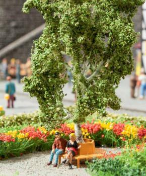 NOCH 21642 Birch Tree 11.5cm With Circular Bench 00/HO