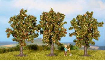 NOCH 25113 Apple Trees 8cm (Pack of 3) 00/HO