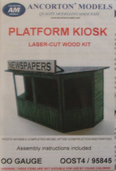 ANCORTON MODELS - Platform Kiosk (Laser Cut Kit) '00'
