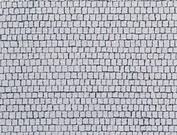 FALLER 170646 Self Adhesive Cobblestone Pavement Square 48cm x 24cm 00/HO