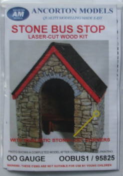 ANCORTON MODELS - Stone Built Bus Stop (Laser Cut Kit) '00'