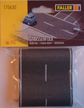 FALLER 170630 Self Adhesive Road With Markings 1m x 80mm 00/HO