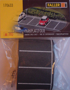 FALLER 170633 Self Adhesive Parking Spaces 1m x 60mm 00/HO