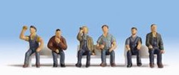 NOCH 15278 Seated Workers 'H0' Model Figures
