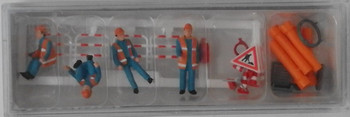 PREISER 10445 Sewer Men With Accessories 00/HO Model Figures