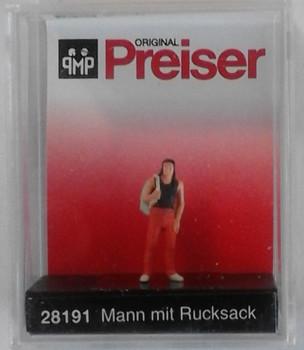 PREISER 28191 - Man With Backpack 00/HO
