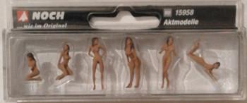 NOCH 15958 Nude Artist Models 00/HO Figures