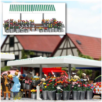 BUSCH 1072 Flower Stall 00/HO Model Kit