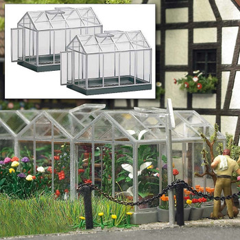 BUSCH 1400 Greenhouses 00/HO Model Kit