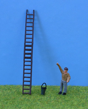 P&D MARSH MODELS - Window Cleaner & Ladder (Ready Painted) '00'