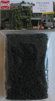 BUSCH 7343 Micro Flock Foliage Sheet (Dark Green) 25cm x 15cm