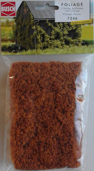 BUSCH 7346 Micro Flock Foliage Sheet (2 Colour Light Brown) 25cm x 15cm