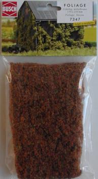 BUSCH 7347 Micro Flock Foliage Sheet (3 Colour Medium Brown) 25cm x 15cm