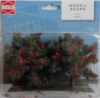 BUSCH 6858 Apple Trees (2) 9.5cm 00/HO