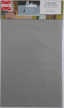 BUSCH 7036 Decor Card (Paving Stones) 2 Sheets 210 x 148mm 00/HO