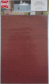 BUSCH 7039 Decor Card (Wooden Boards) 2 Sheets 210 x 148mm 00/HO