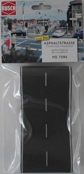 BUSCH 7086 Asphalt Road (Self Adhesive) 2m x 80mm 00/HO