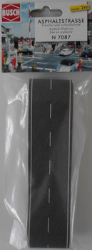 BUSCH 7087 Asphalt Road (Self Adhesive) 2m x 40mm 'N' Gauge