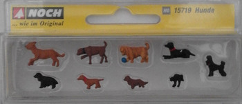 NOCH 15719 Assorted Dogs 00/HO Model Animals