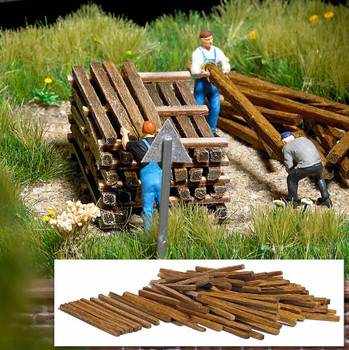 BUSCH 1129 Real Wood Building Timbers 00/HO Gauge Model Kit