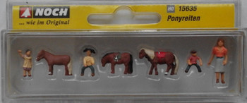 NOCH 15635 Pony Riding 00/HO Model Figures
