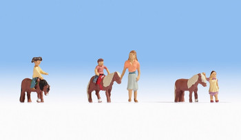 NOCH 15635 Pony Riding 00/HO Model Figures