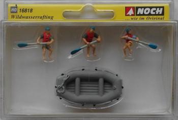 NOCH 16818 White Water Rafting 00/HO Model Figures