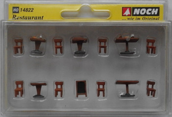 NOCH 14822 Restaurant Tables & Chairs 00/HO Model Accessories