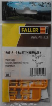 FALLER 180915 Pallet Jacks (2) 00/HO Plastic Model Kit