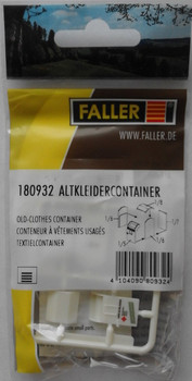 FALLER 180932 Clothes Recycling Container 00/HO Plastic Model Kit