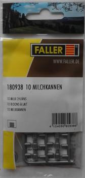 FALLER 180938 Milk Churns (10) 00/HO Plastic Model Kit