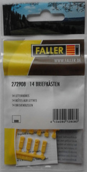 FALLER 272908 Letterboxes (14) 'N' Gauge Plastic Model Accessories