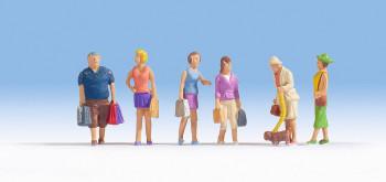 NOCH 15518 People Shopping 00/HO Model Figures