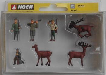 NOCH 15731 Hunters & Deers 00/HO Model Figures