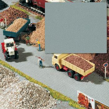 BUSCH 7088 Self Adhesive Cobbled Square 56cm x 33cm  00/HO