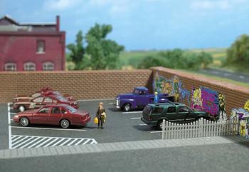 BUSCH 9713  Self Adhesive Car Park 20cm x 16cm 00/HO