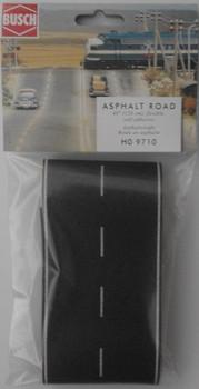 BUSCH 9710 Self Adhesive Asphalt Road 1200mm x 80mm 00/HO