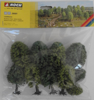 NOCH 26901 Deciduous Trees 5cm - 9cm (10) 00/HO