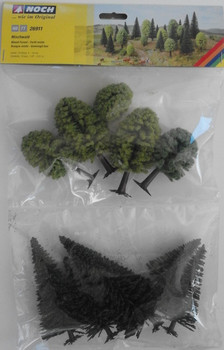 NOCH 26911 Mixed Forest Trees 5cm - 14cm (10) 00/HO Gauge